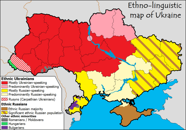 Ethno summary map ukraine