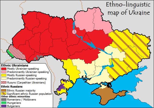 Ethno summary map ukraine