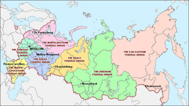 Russian Federation Federal Districts