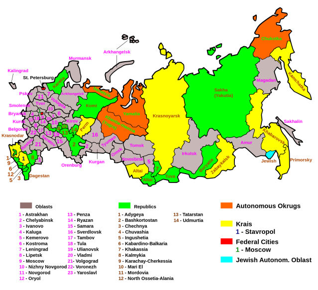 Map Of Russian Russia maps | Eurasian Geopolitics