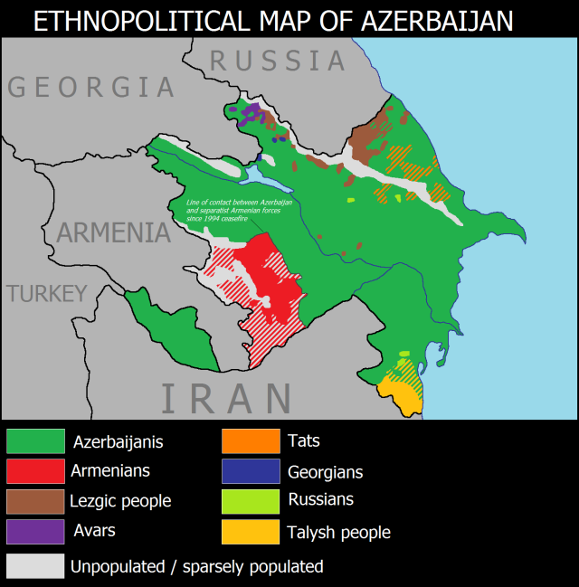 CAU Azerbaijan ethnic map