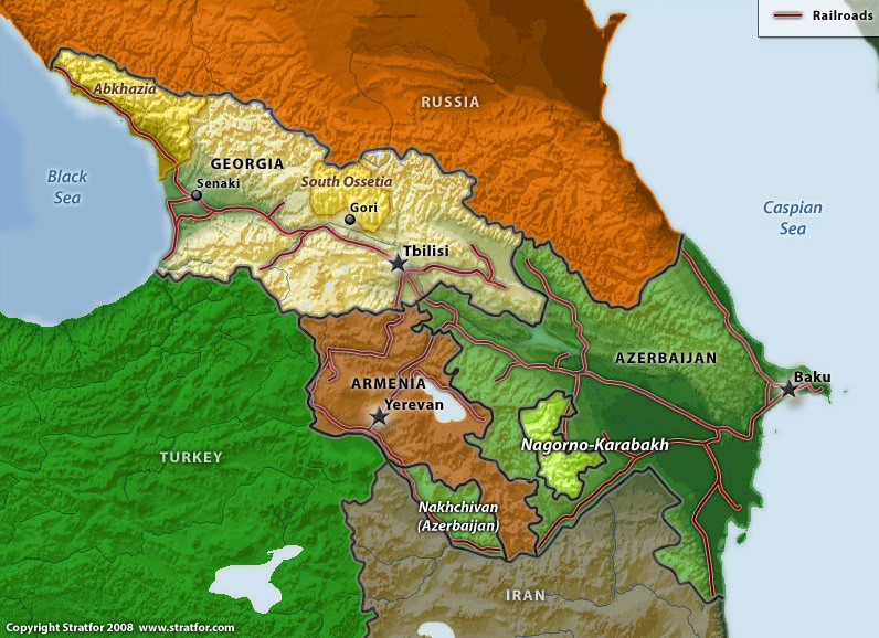 South Caucasus Maps Eurasian Geopolitics