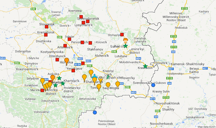 donbas conflict zone aug 5 2014