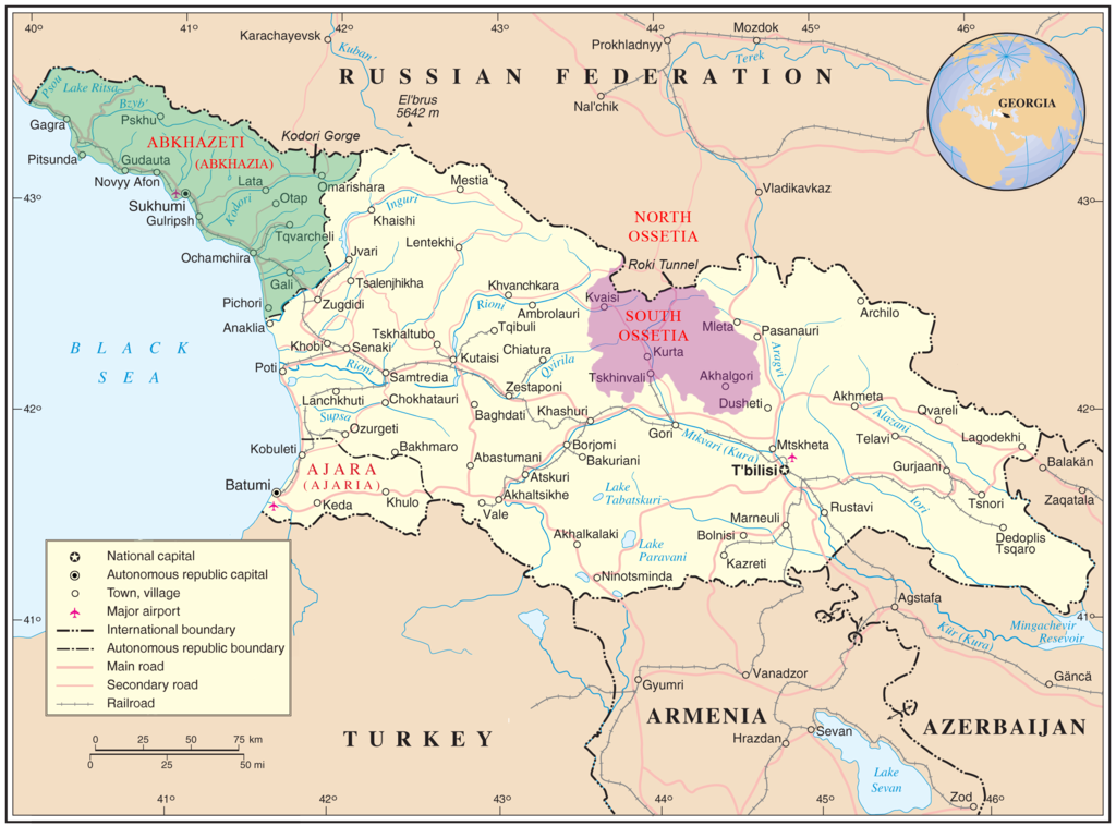 South Caucasus Maps Eurasian Geopolitics - Georgia map 1918