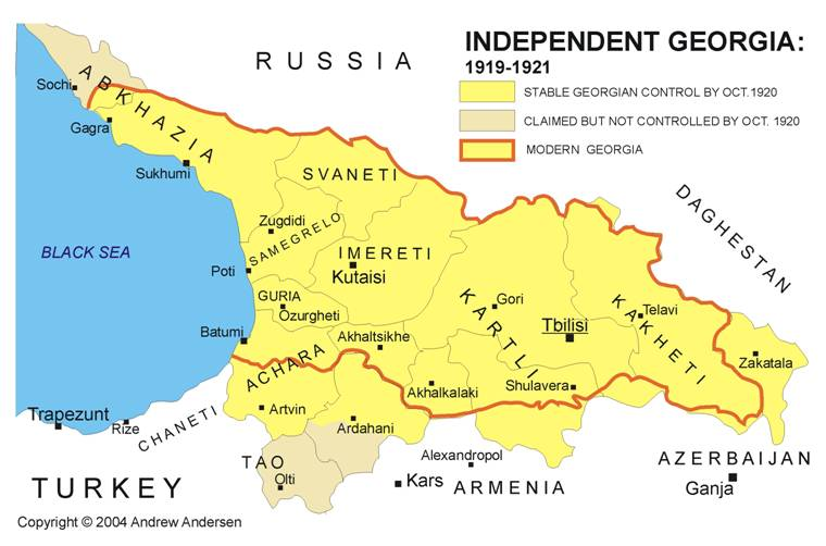 Map Republic Of Georgia.Rus Georgia Rep Map Eurasian Geopolitics