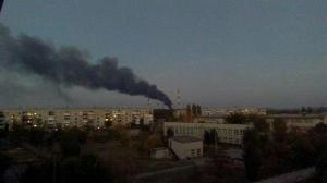 luhansk TPS burning