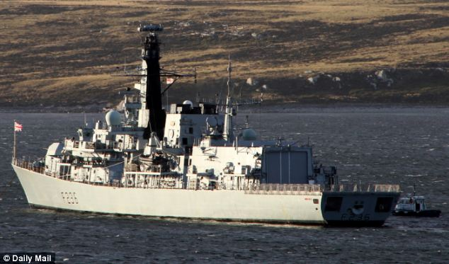 US frigate