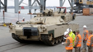 Abrams-main-battle-tank-leaves-Riga-port-March-6-2015