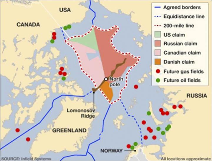 Arctic Territorial Claims Map Arctic maps | Eurasian Geopolitics