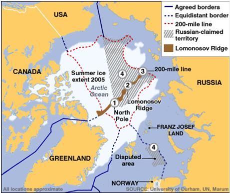 Arctic maps Eurasian Geopolitics