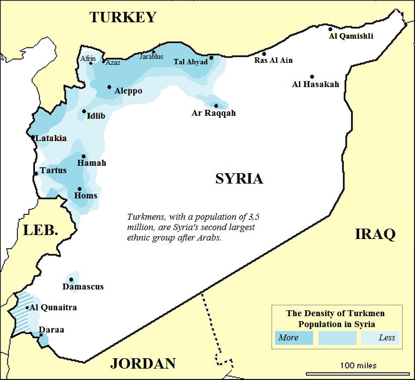 Syriaethnicmapturkmenethnicitypopulationanddensity - Qamishli map