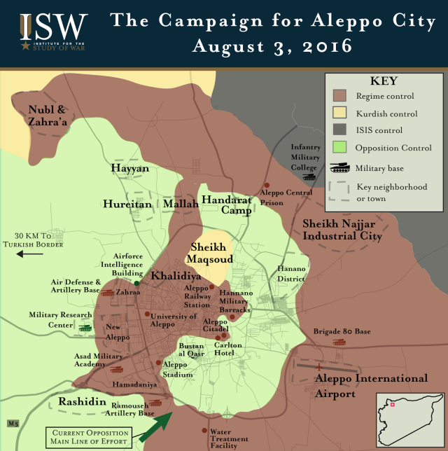 Aleppo battle map