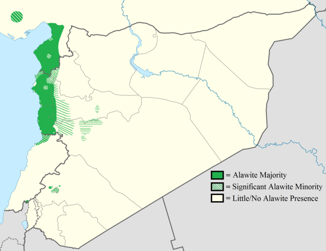 Ethno Alawite Distribution in the Levant