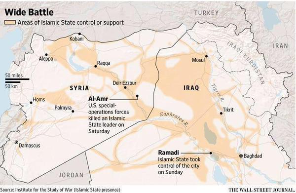 Syria Iraq situation map ISW WSJ   Eurasian Geopolitics