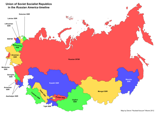 USSR Union Republics 1989