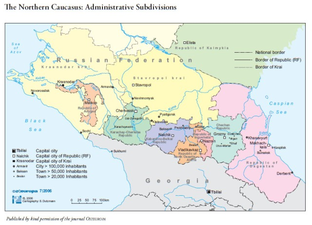 70_1 The Northern Caucasus Administrative Subdivisions