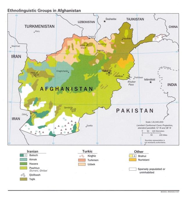 Afghanistan ethnolingustic