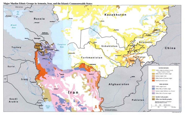 CAS and Iran Muslim ethnic groups