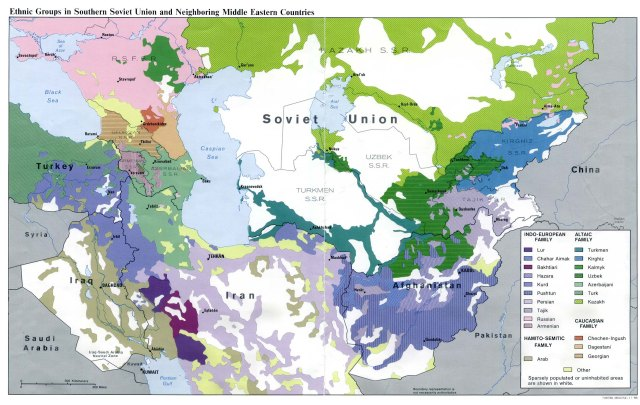 Central asia maps eurasian geopolitics cas ethnolinguistic 1986 gumiabroncs