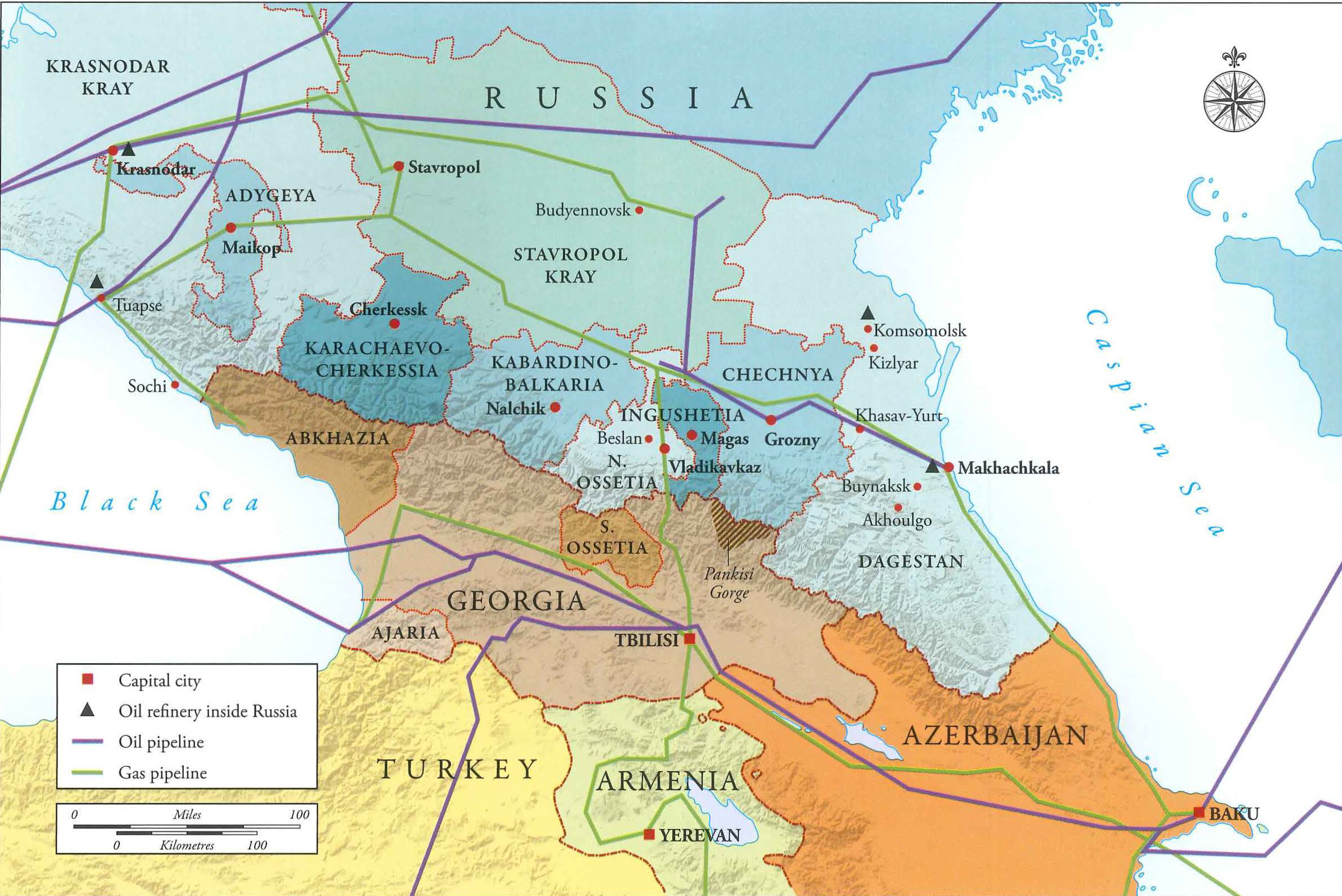 Chechnya map Galeotti | Eurasian Geopolitics on