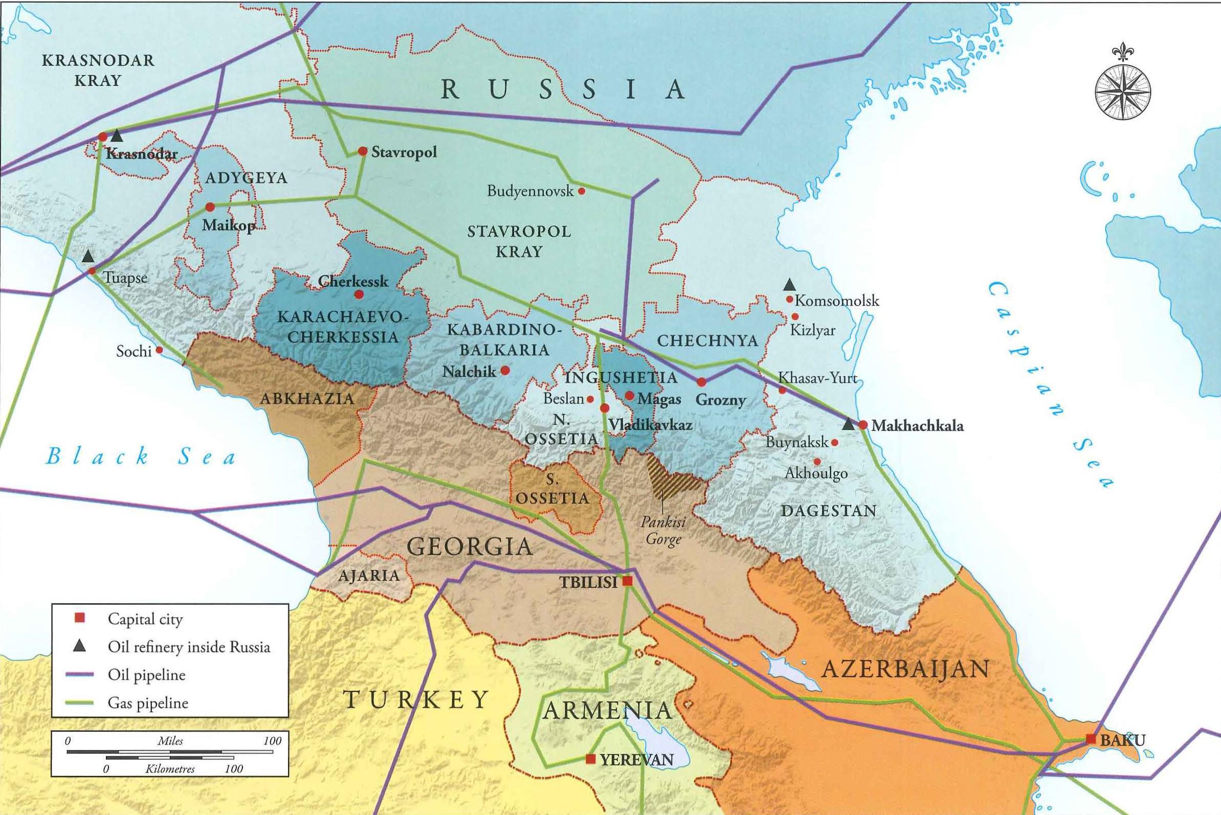Chechnya Map Galeotti Eurasian Geopolitics - Nalchik map