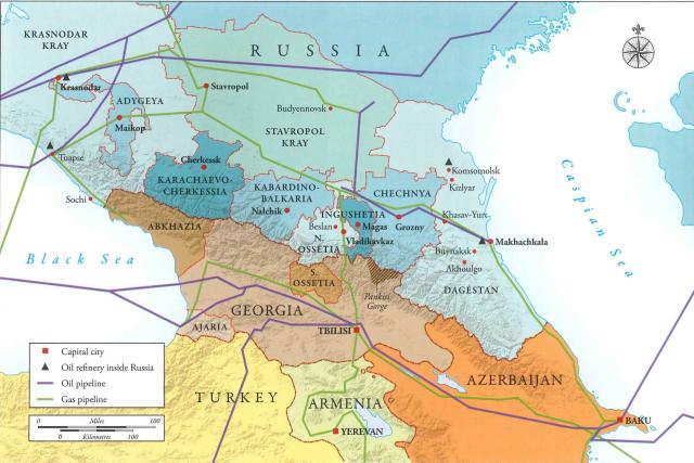 Chechnya map Galeotti