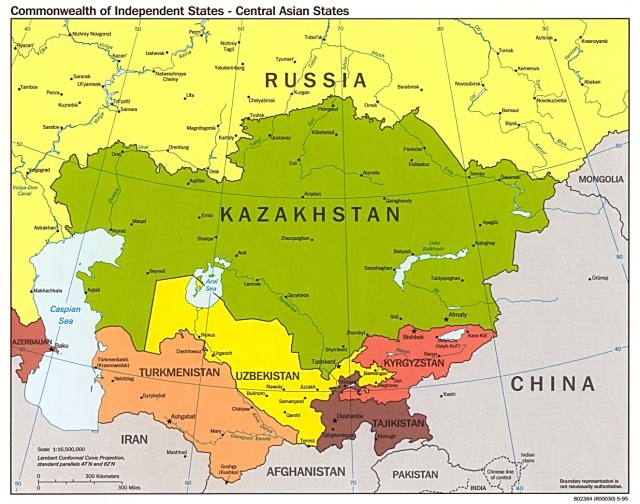 Political Map Of Central Asia.Central Asia Maps Eurasian Geopolitics