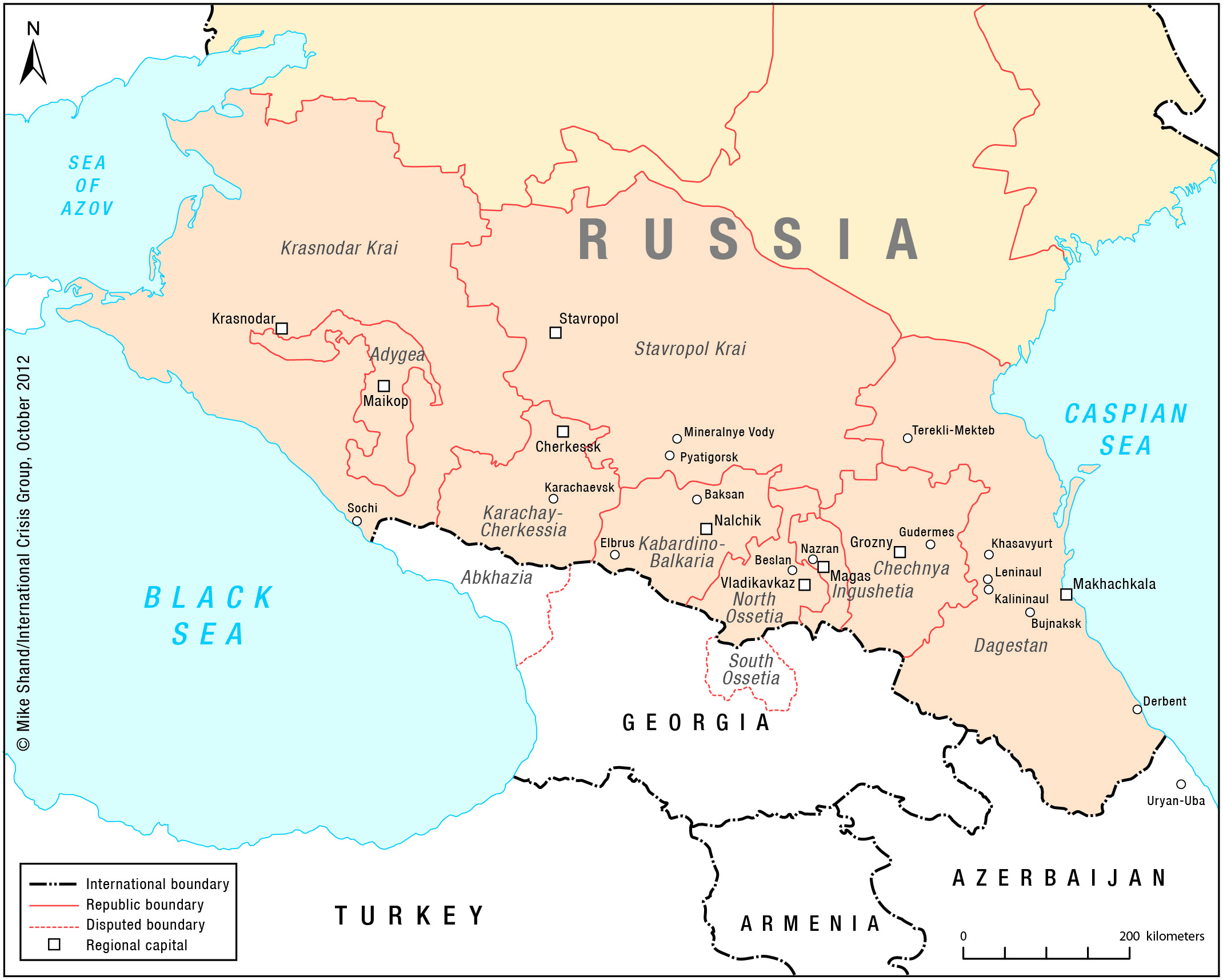 North Caucasus map V2 Eurasian Geopolitics