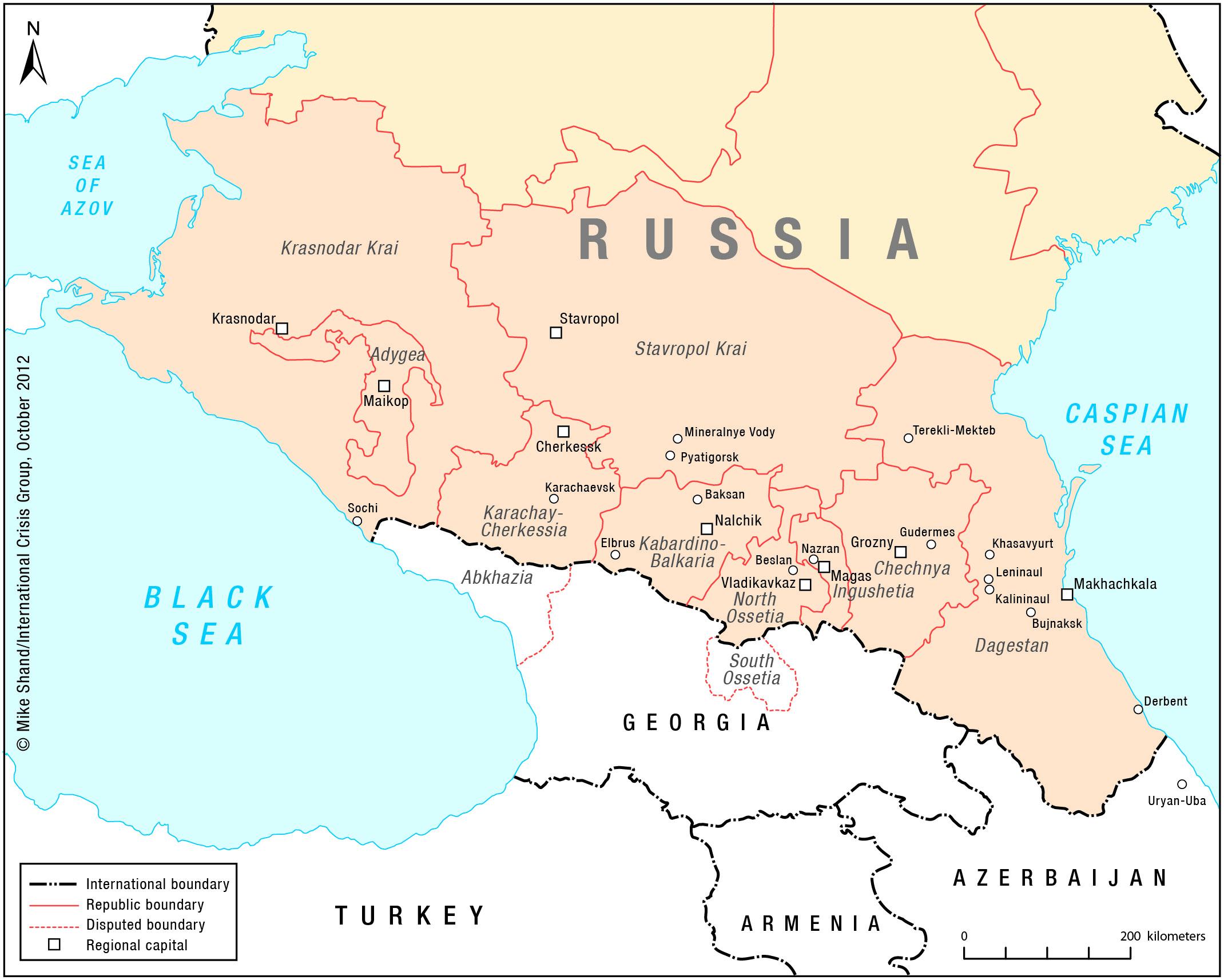 North Caucasus Maps Eurasian Geopolitics - Caucasus map