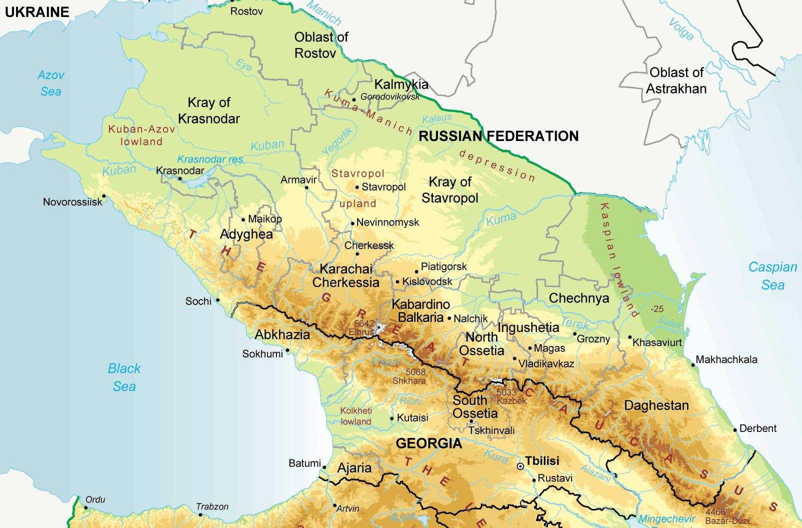 North Caucasus maps Eurasian Geopolitics