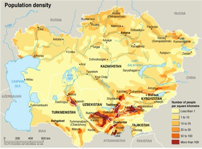 Central asia maps eurasian geopolitics central asia population density chinacentralasiainfrastructure gumiabroncs Images